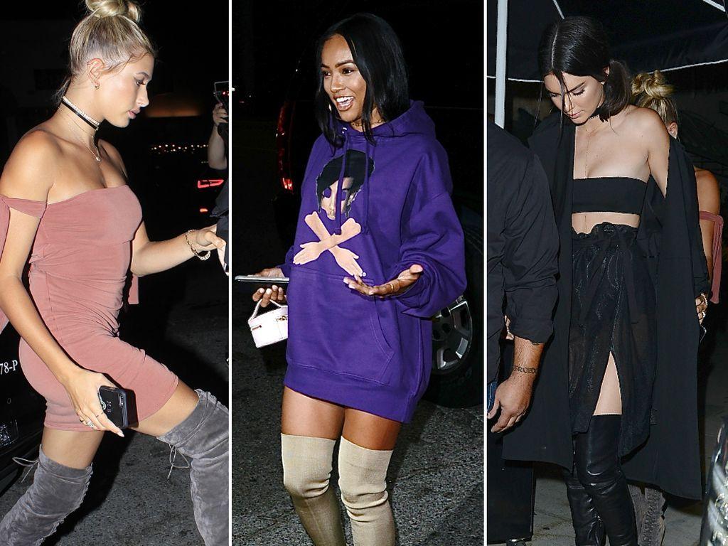 Hailey Baldwin, Karrueche Tran und Kendall Jenner