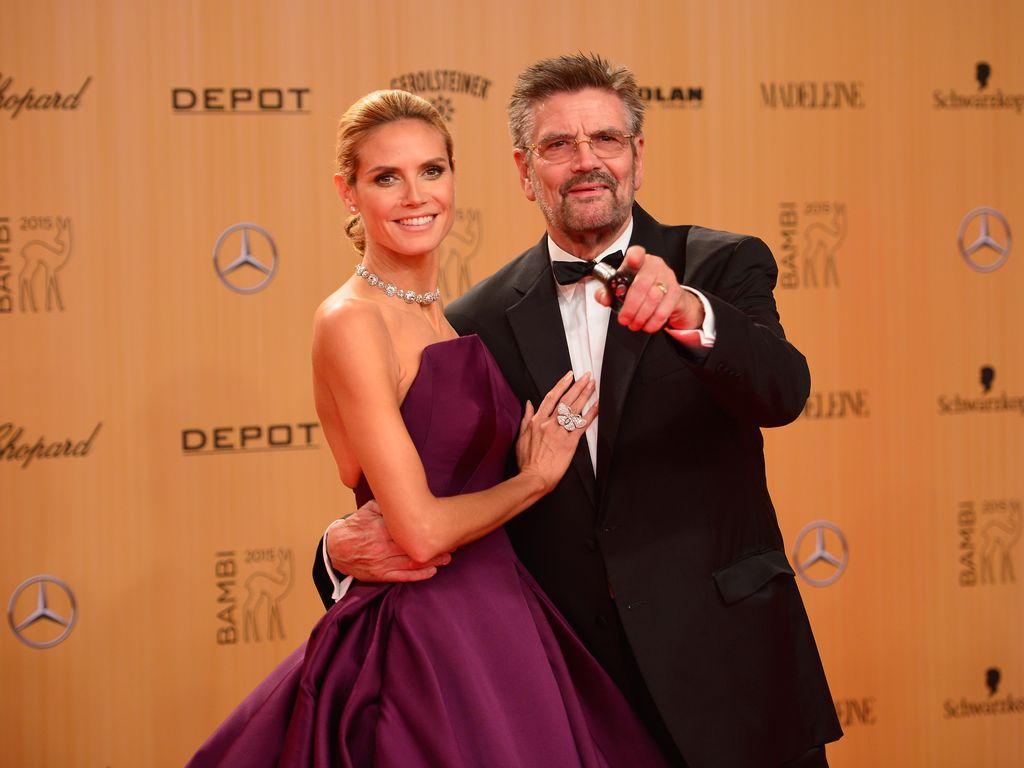 Heidi Klum und ihr Vater Günther Klum