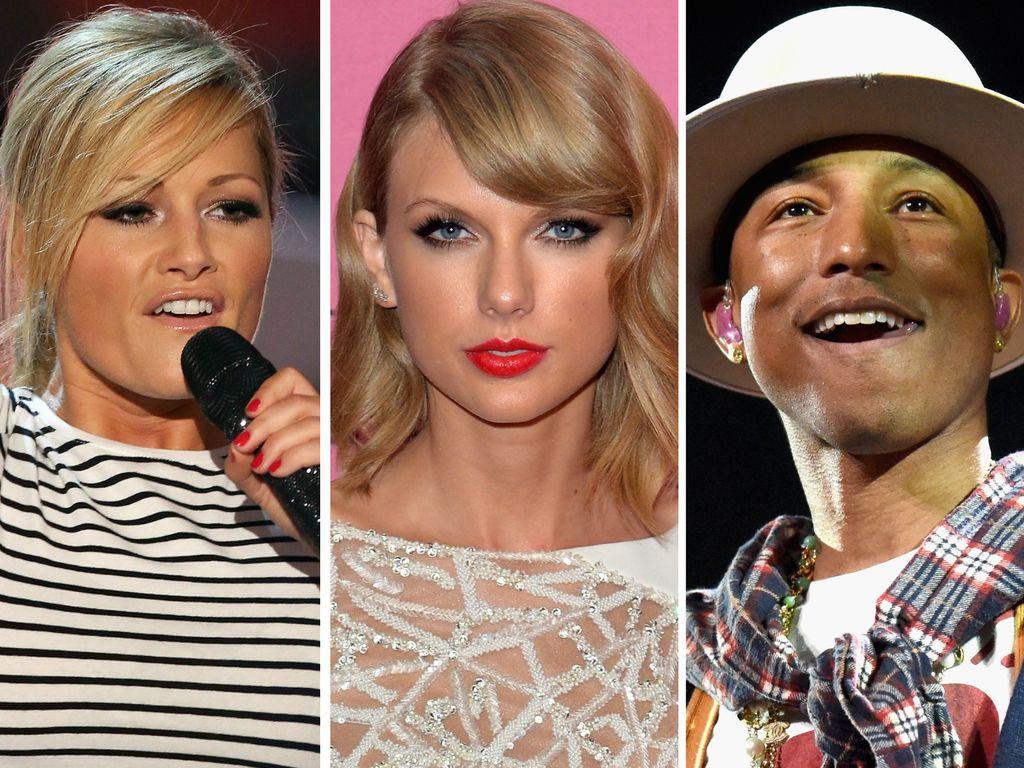 Taylor Swift, Helene Fischer und Pharrell Williams