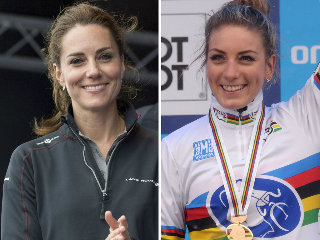 Herzogin Kate und Olympia-Teilnehmerin Pauline Ferrand-Prevot