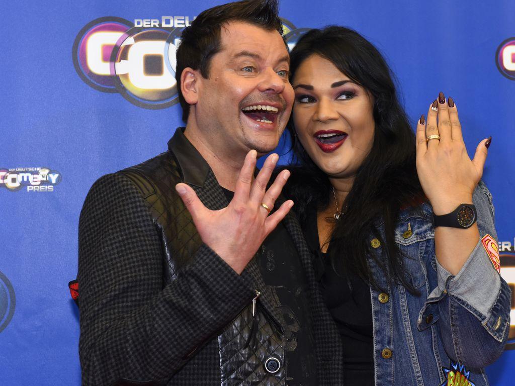 Ingo Appelt und seine Frau Sonja Appelt, frischverheiratet beim Deutschen Comedypreis 2016