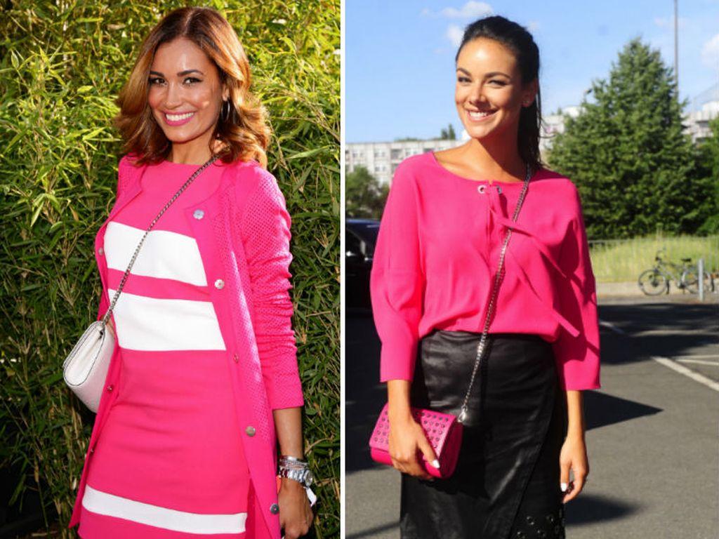 Jana Ina Zarella und Janina Uhse auf der Laurèl-Fashion-Show