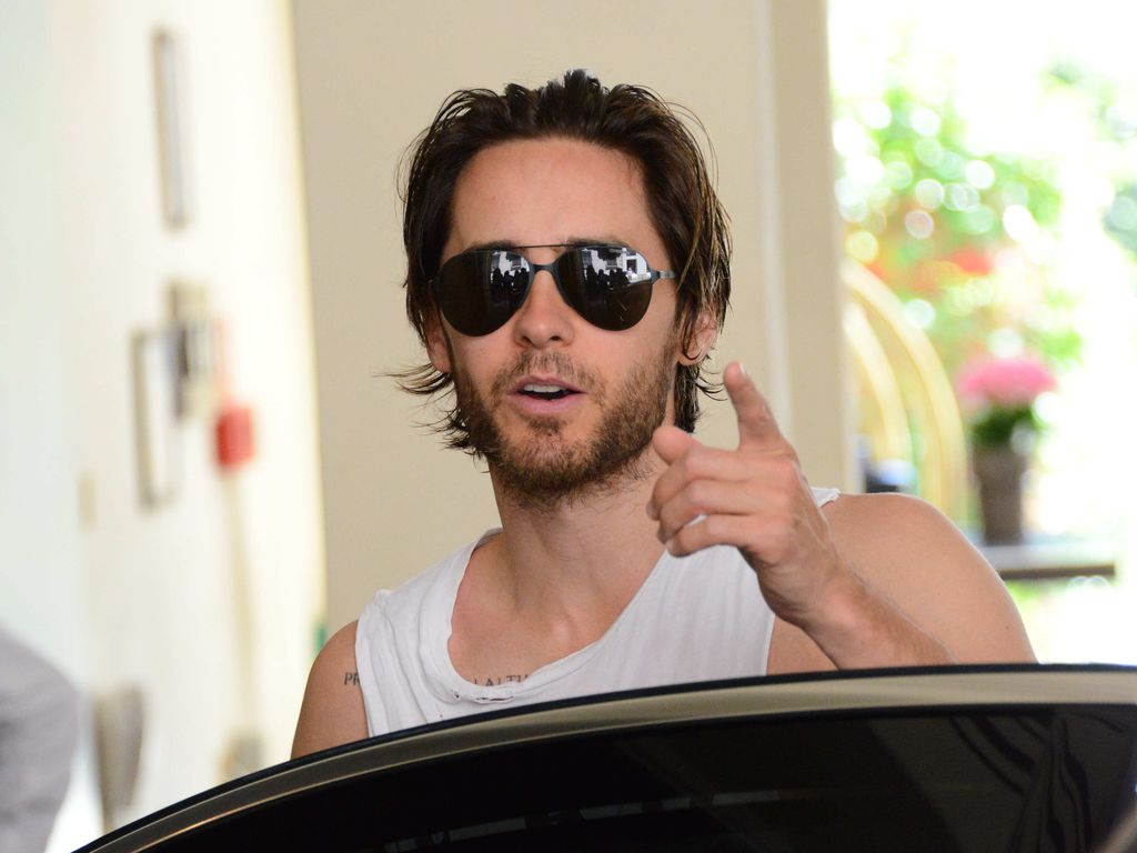 Jared Leto in Mailand während der Fashion Week