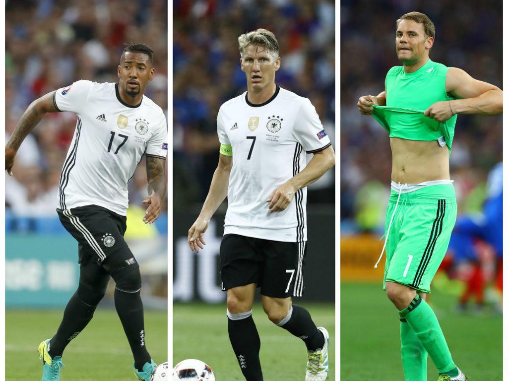 Jérôme Boateng, Bastian Schweinsteiger und Manuel Neuer