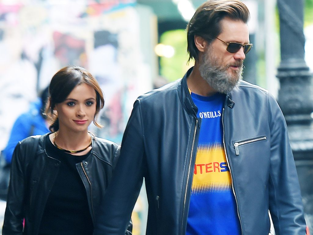 Jim Carrey und Cathriona White im Mai 2015 in New York