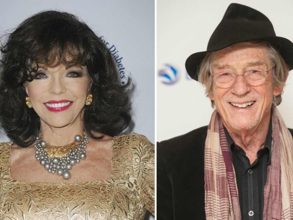 Joan Collins und John Hurt