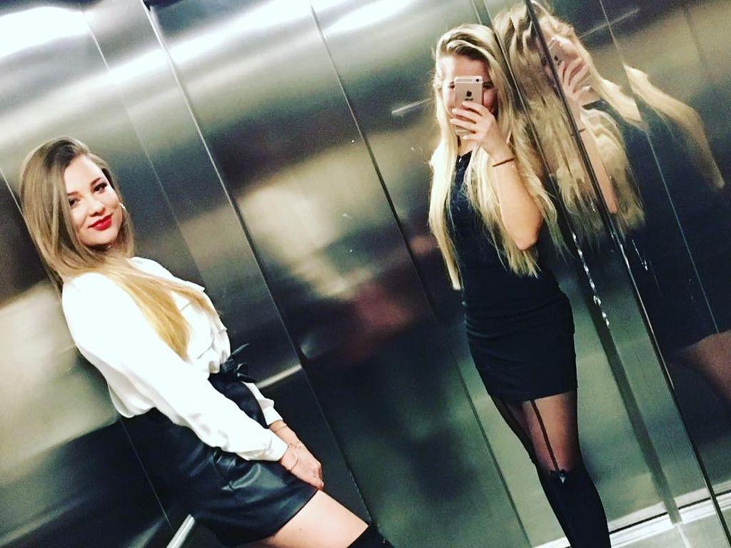 Joelina Drews und Freundin Michelle in Berlin