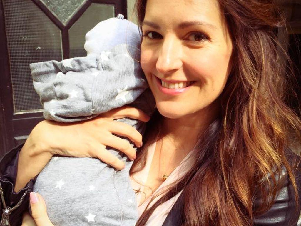 Johanna Klum mit ihrer Tochter auf dem Arm - Sommer 2015