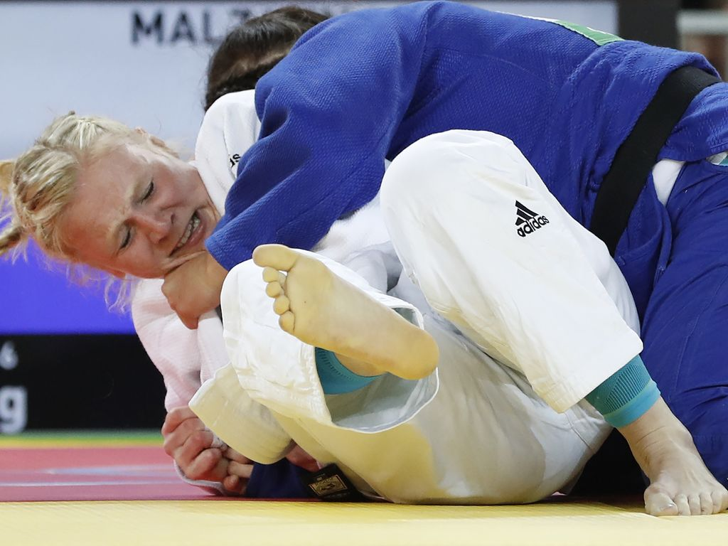 Deutsche Judo-Kämpferin Luise Malzahn bei den Olympischen Spielen in Rio de Janeiro