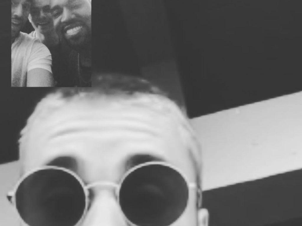 Justin Bieber und Kanye West beim Videotelefonat