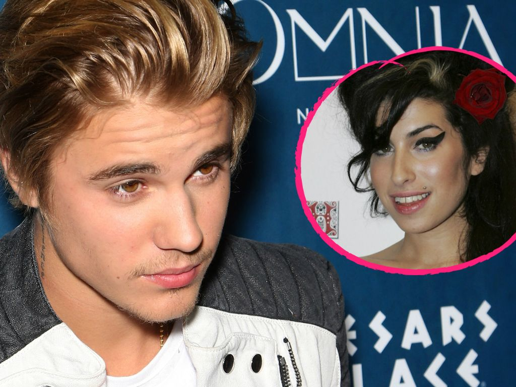 Justin Bieber und Amy Winehouse