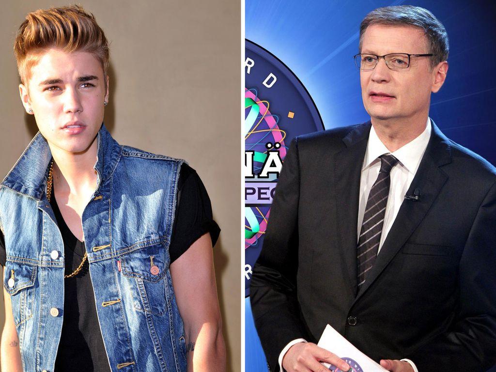 Justin Bieber und Günther Jauch