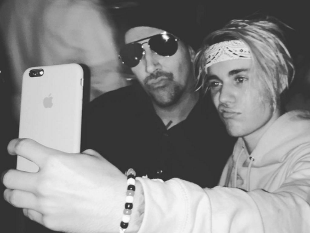 Justin Bieber und Marilyn Manson
