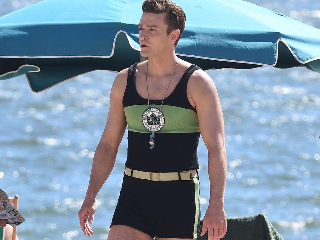 Justin Timberlake als Rettungsschwimmer beim Filmdreh