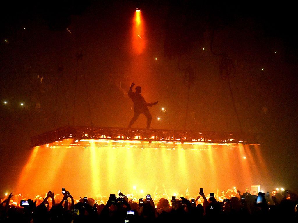 Kanye West auf einem Konzert in Inglewood, Kalifornien