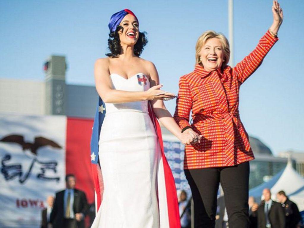 Katy Perry und Hillary Clinton