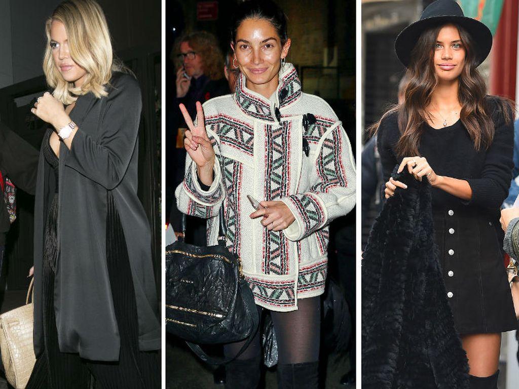 Khloe Kardashian, Lily Aldridge und Sara Sampaio