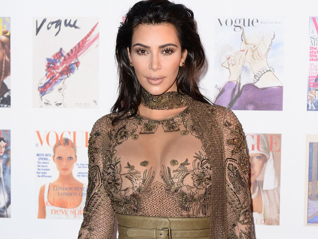 Kim Kardashian bei der Vogue-Gala in London