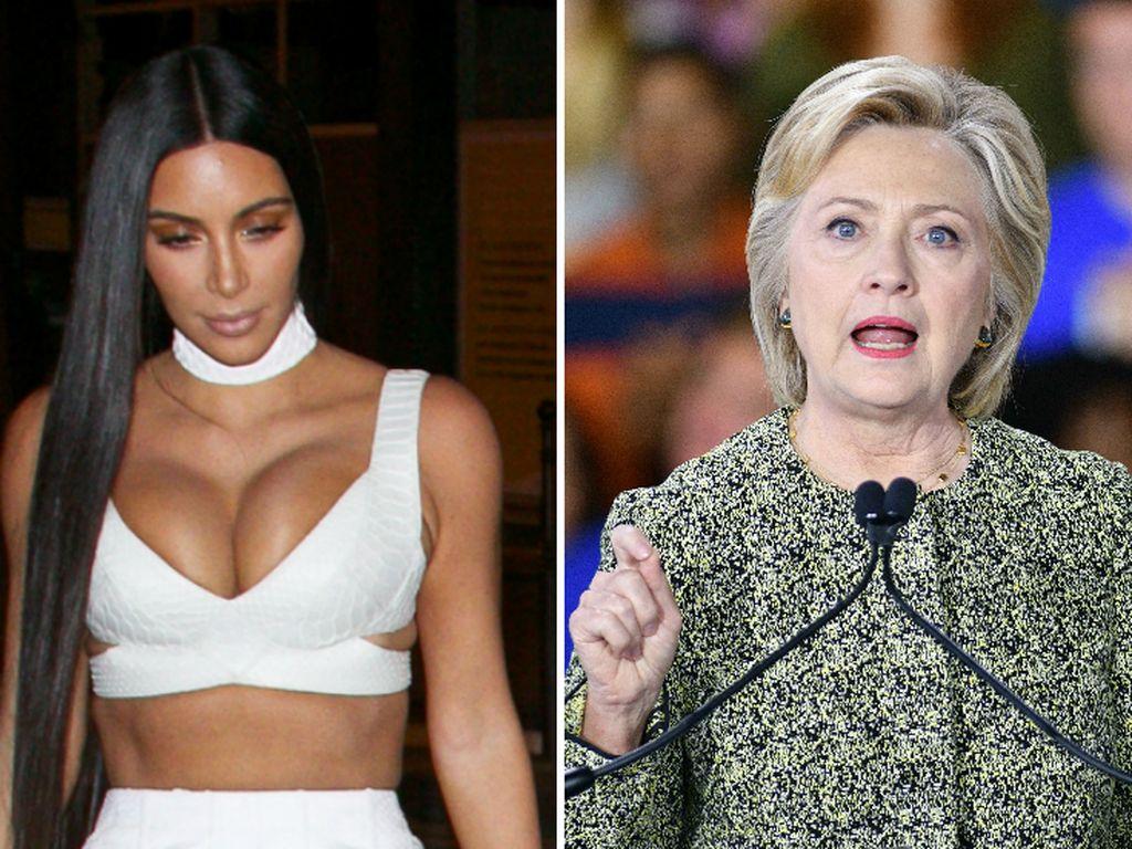Kim Kardashian und Hillary Clinton