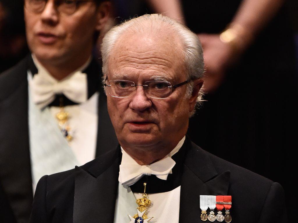 König Carl Gustaf von Schweden beim Nobelpreis 2015