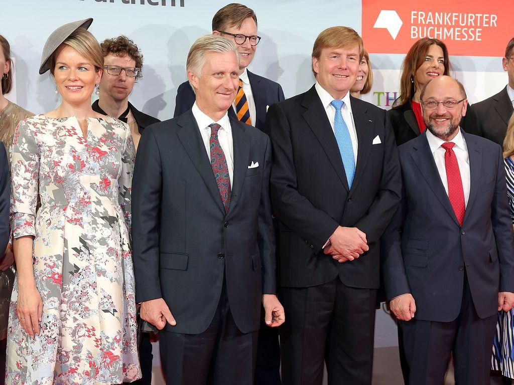 Königin Mathilde sowie König Philippe von Belgien und Willem-Alexander der Niederlande