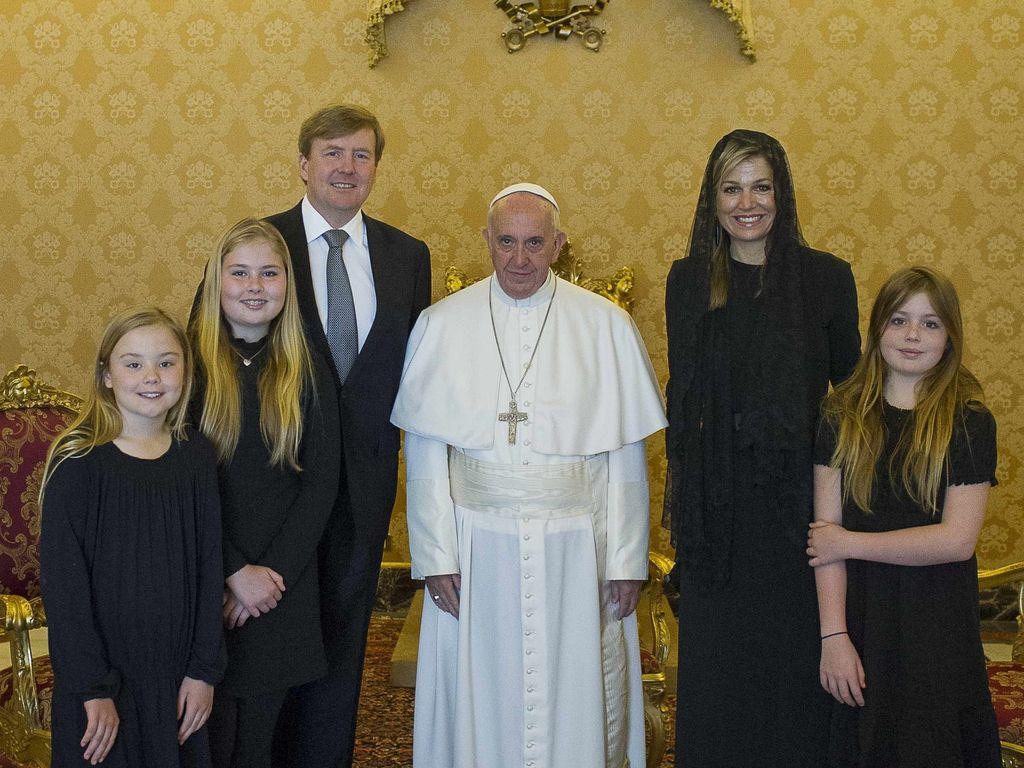 Königin Maxima, Papst Franziskus I., König Willem-Alexander, Prinzessin Ariane Wilhelmina Máxima Ine