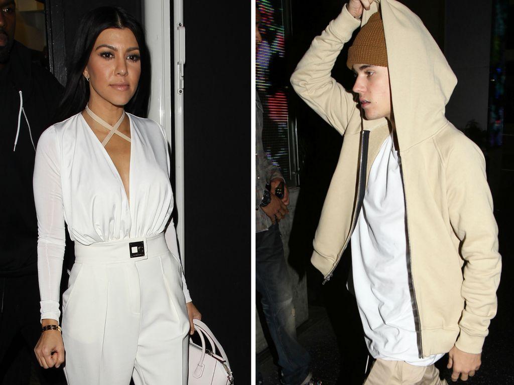 Justin Bieber und Kourtney Kardashian