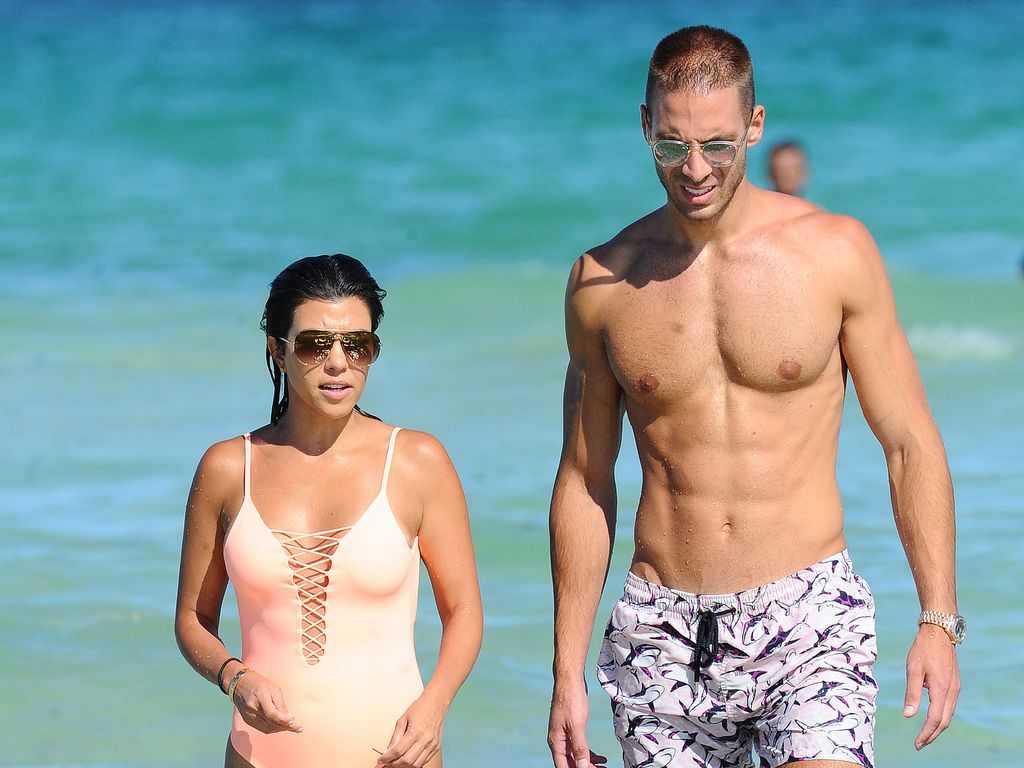 Kourtney Kardashian und Simon Huck in Miami Beach