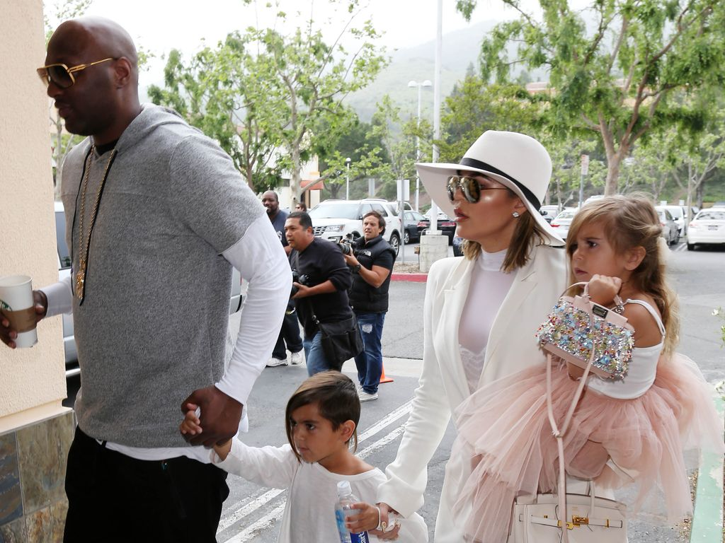 Khloe Kardashian, Lamar Odom, Penelope Disick und Mason Disick