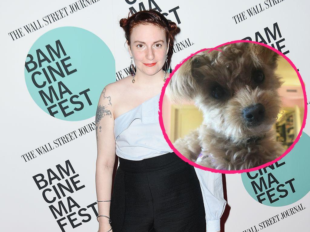 Lena Dunham und ihr Hund Lamby