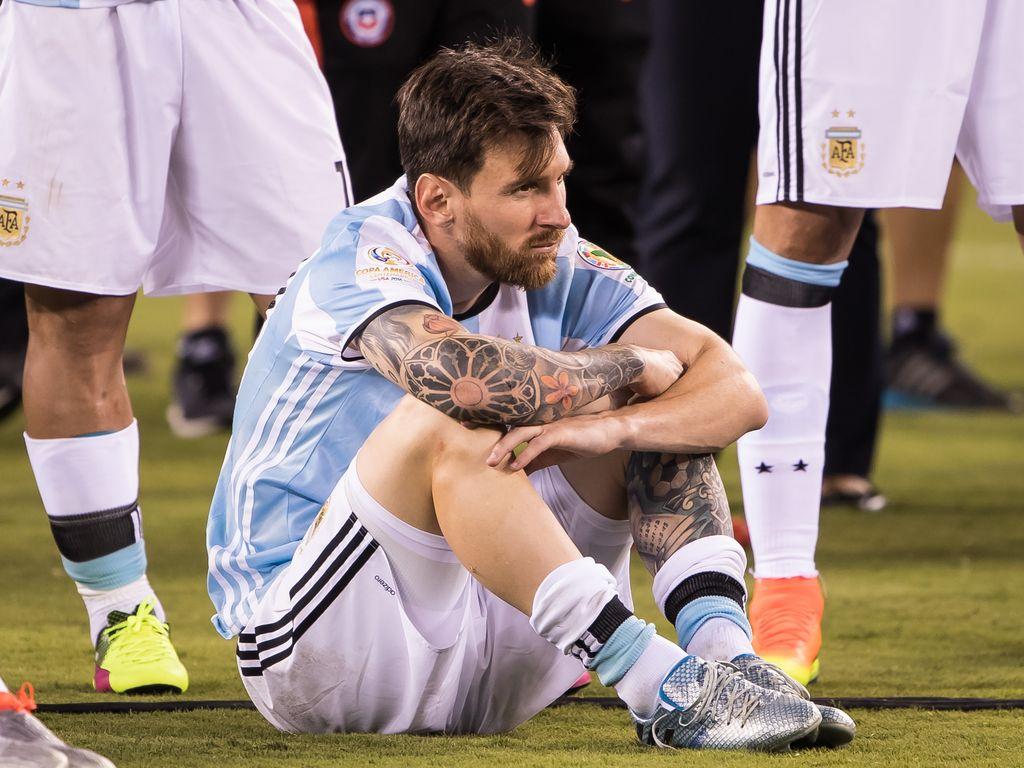 Lionel Messi beim Copa America 2016 Finalspiel Chile gegen Argentinien in East Rutherford