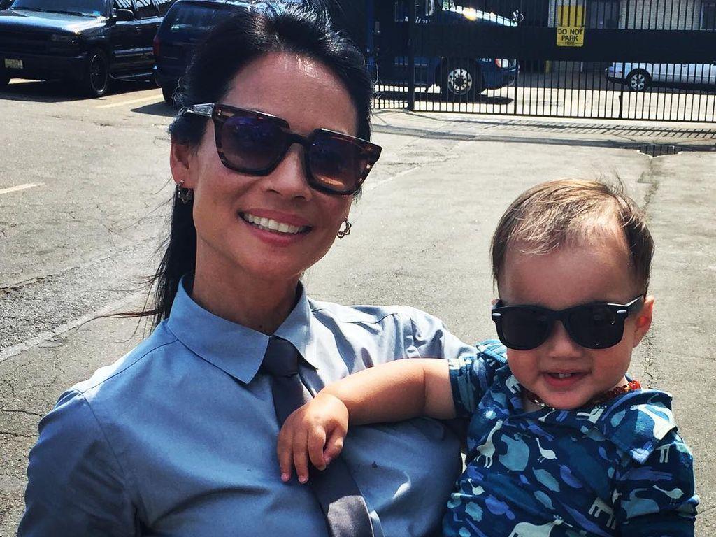 Lucy Liu und ihr Sohn Rockwell