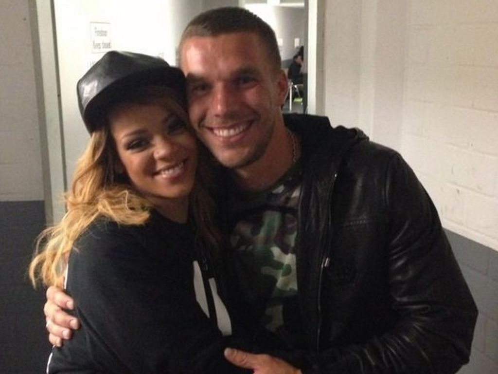 Lukas Podolski und Rihanna