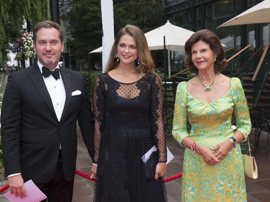 Madeleine von Schweden, Chris O'Neill und Königin Silvia von Schweden