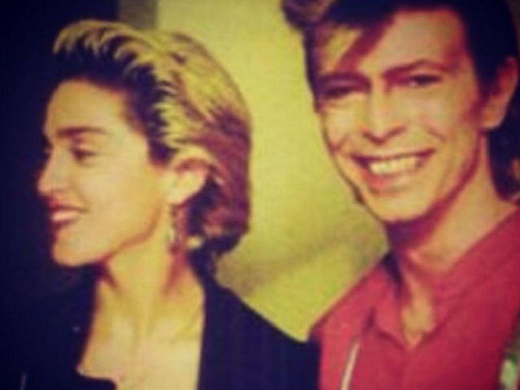 Madonna und David Bowie