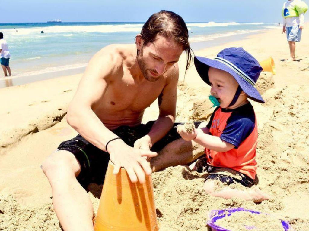 Marcus Kowal und Söhnchen Liam