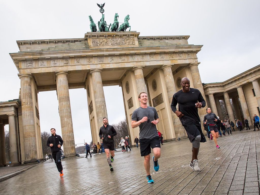 Mark Zuckerberg bei seinem Berlin-Besuch 2016