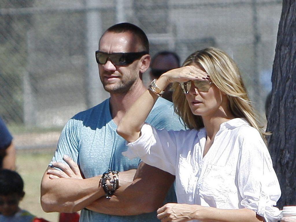 Martin Kirsten und Heidi Klum bei einem Fußballspiel der Kinder in L.A.