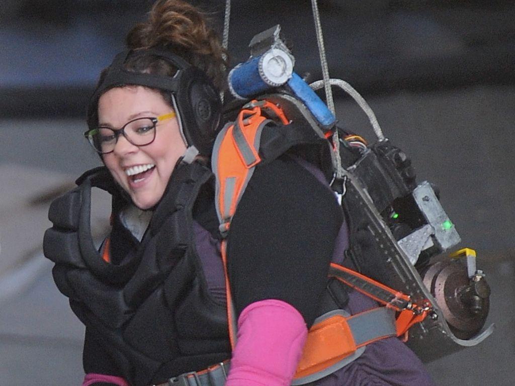 Melissa McCarthy am Set von Ghostbusters
