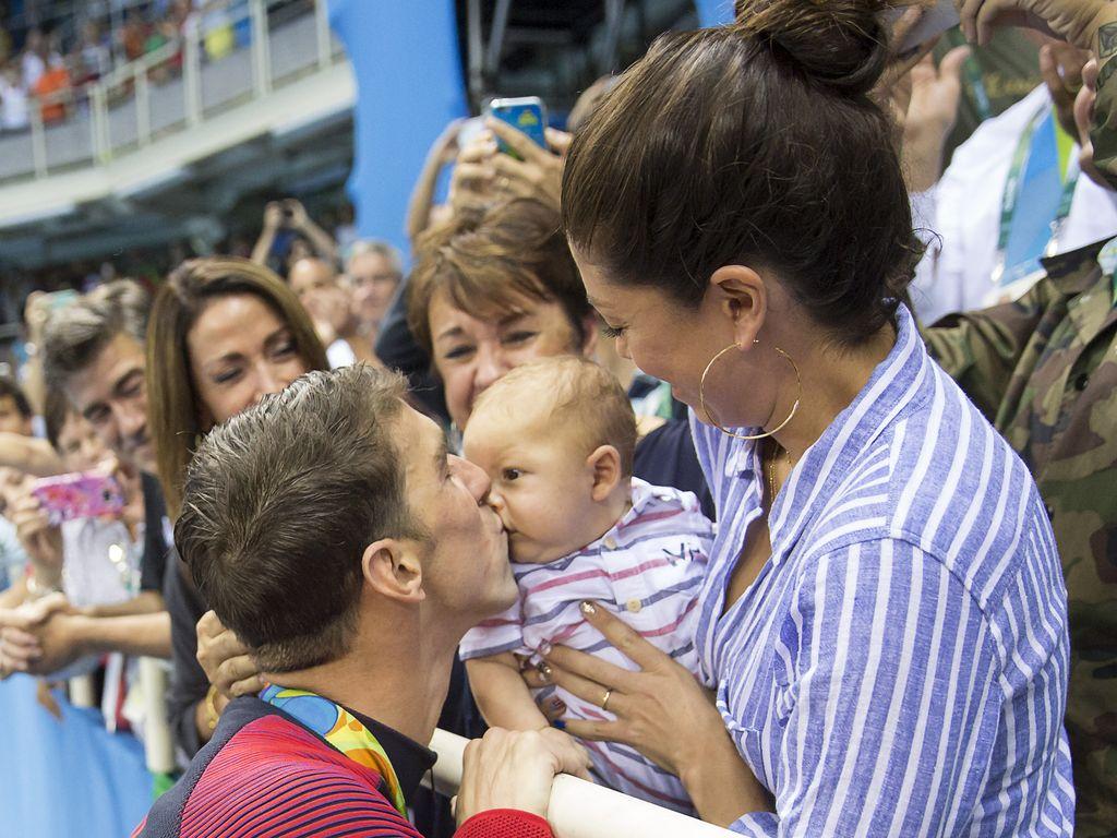 Michael Phelps nach seinem Sieg über 200-Meter-Schmetterling in Rio 2016
