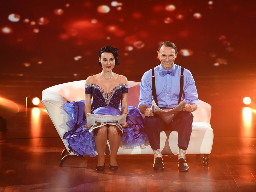 "Mimi Fiedler und Bernhard Bettermann bei ""Stepping Out"" 2015"