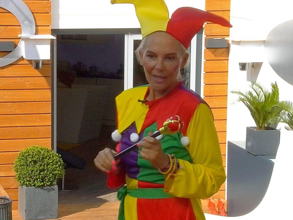 Natascha Ochsenknecht als Harlekin für die Luxus-Bewohner