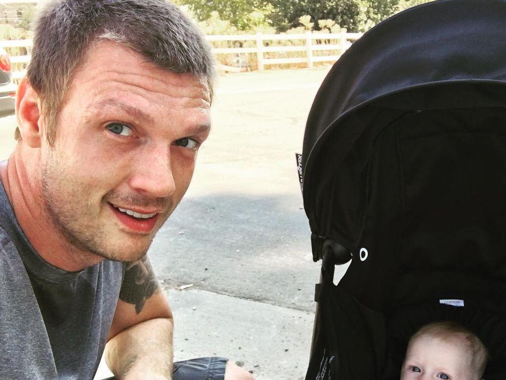 Nick Carter mit seinem Sohn Odin