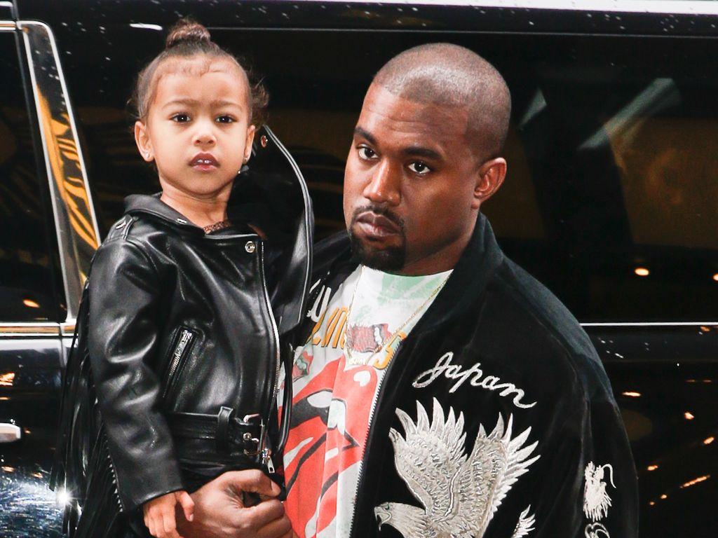 Kanye West und Tochter North auf dem Broadway in New York