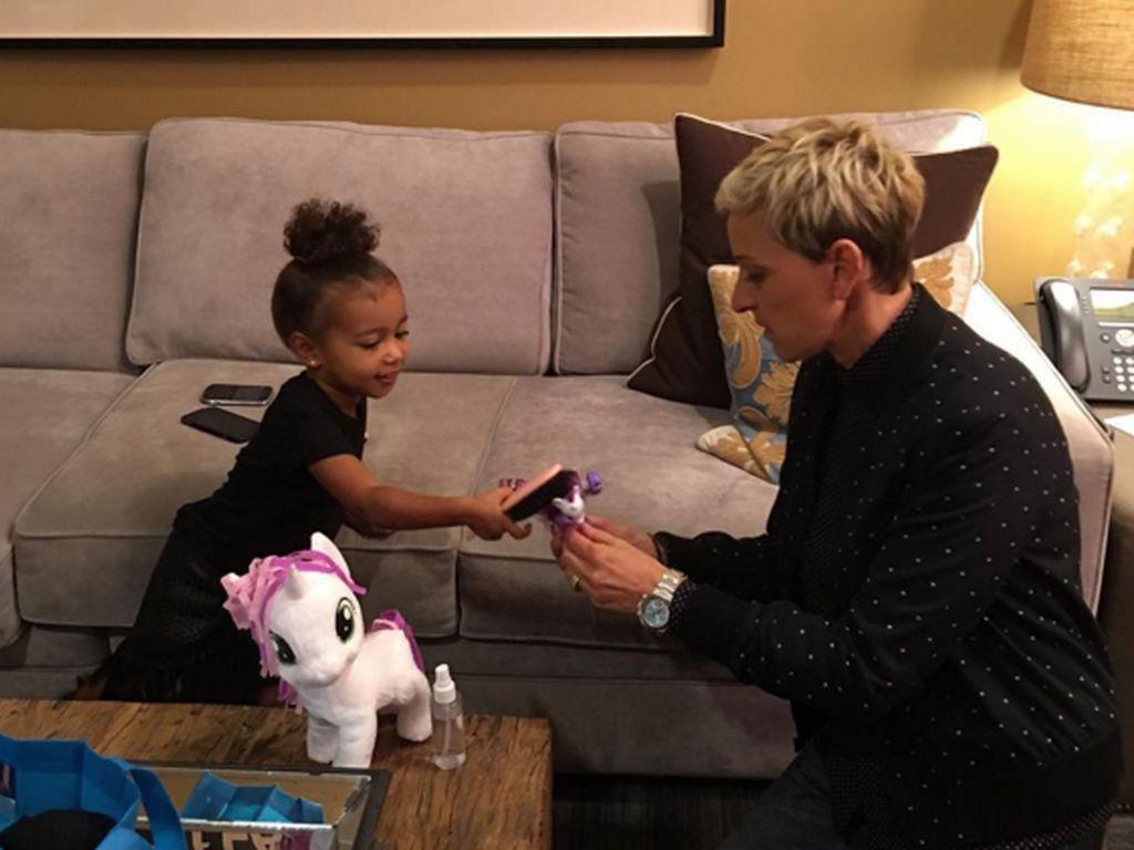 North West und Ellen DeGeneres