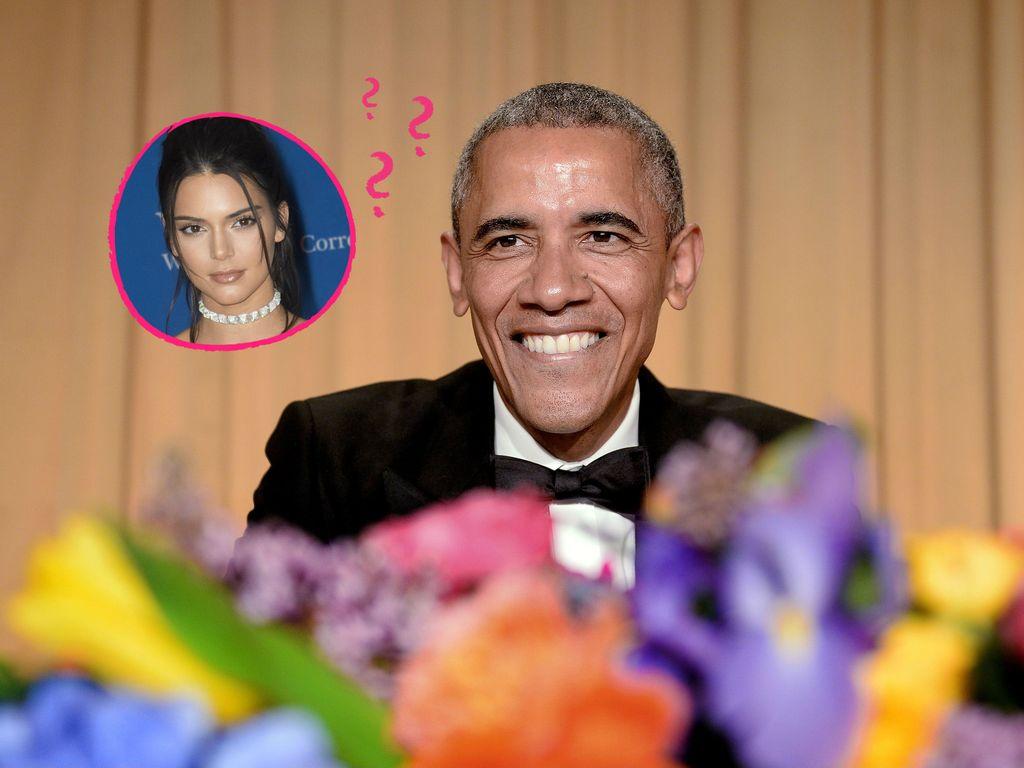 Kendall Jenner und Barack Obama
