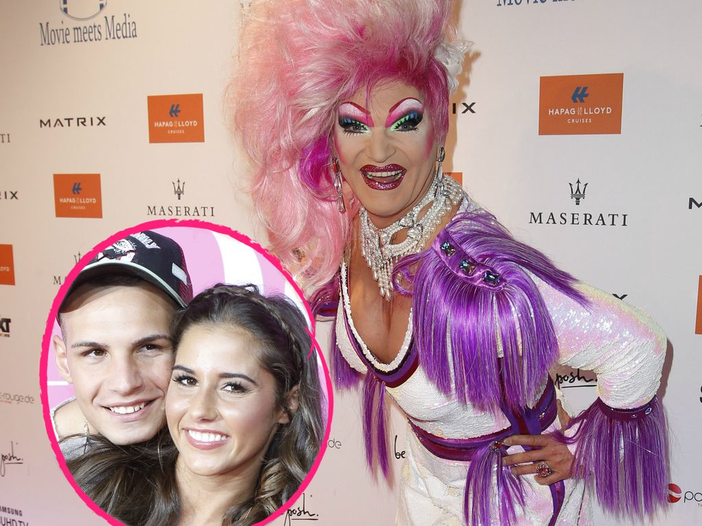 Olivia Jones mit Sarah und Pietro Lombardi