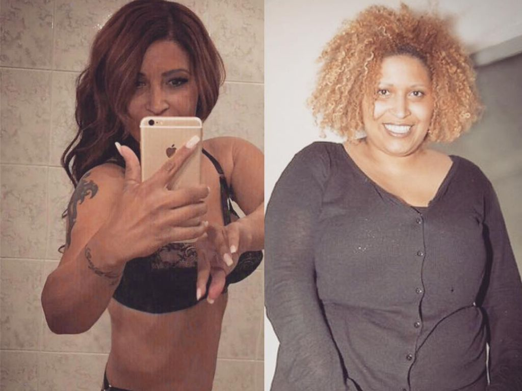 Patricia Blanco in einem Vorher-Nachher-Vergleich
