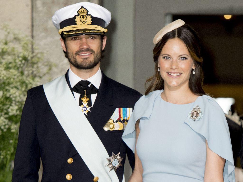 Prinzessin Sofia und Prinz Carl Philip bei Prinz Oscars Taufe