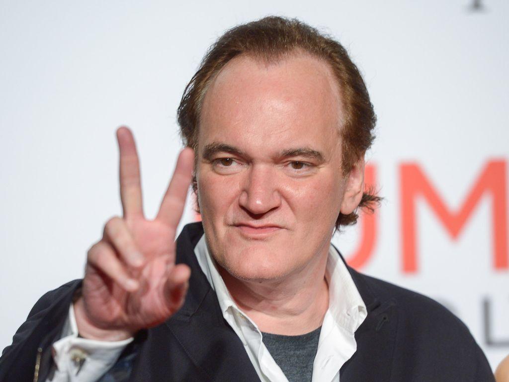 Quentin Tarantino bei einem Film Festival in Lyon